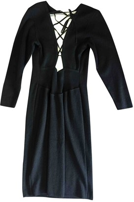 Rodier Black Wool Dress for Women Vintage