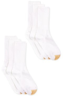 Gold Toe Women's Ribbed Crew 6 Pack Socks