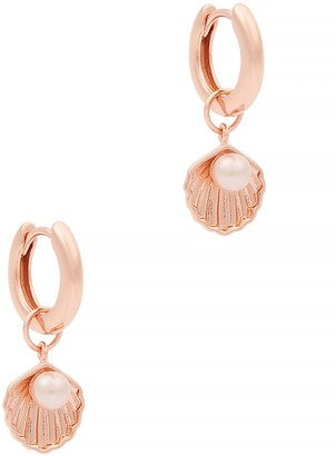 Olivia Burton Under the Sea rose-gold hoop earrings