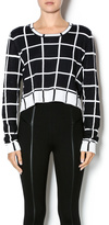 BCBGeneration Cropped Windowpane Sweater