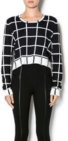 BCBGeneration Cropped Windowpane Sweater