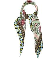 Marni Abstract-print silk scarf