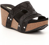 Volatile Mount Leather Cut-Out Wedge Sandals