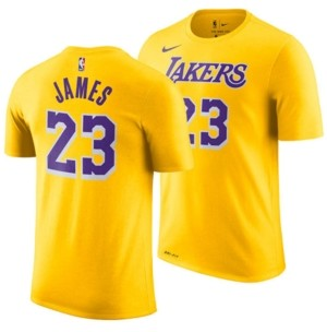 Nike LeBron James Los Angeles Lakers Icon Name & Number T-Shirt, Big Boys (8-20)