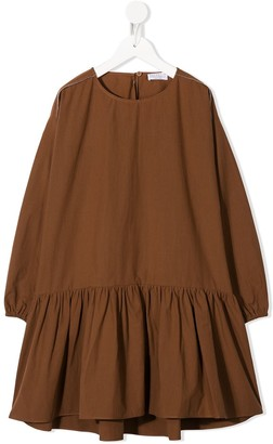 BRUNELLO CUCINELLI KIDS Long-Sleeved Cotton Dress