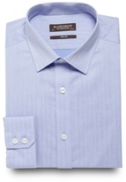 St George By Duffer Big And Tall Blue Textured Slim Fit Shirt