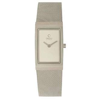 Ingersoll Obaku by ladies silver dial stainless steel mesh bracelet watch