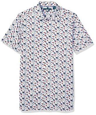 Perry Ellis Men's Big Blossom Print Shirt