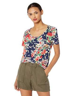 Lucky Brand Women's Summer Bouquet Scoop Neck TEE