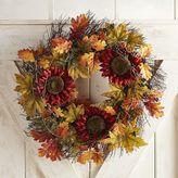 "Pier 1 Imports Faux Red Sunflower & Blackberry Vine 21"" Wreath"