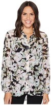 Ellen Tracy Shirred Yoke Shirt Women's Clothing
