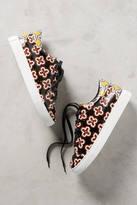 Lola Cruz Floral Leather Sneaker