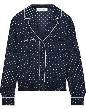 Frame Pj Polka-dot Washed-silk Shirt