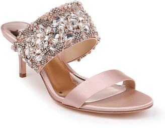 Badgley Mischka Linda Crystal and Jeweled Sandals