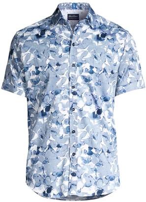 Robert Graham Teasdale Floral Leaf Short-Sleeve Shirt