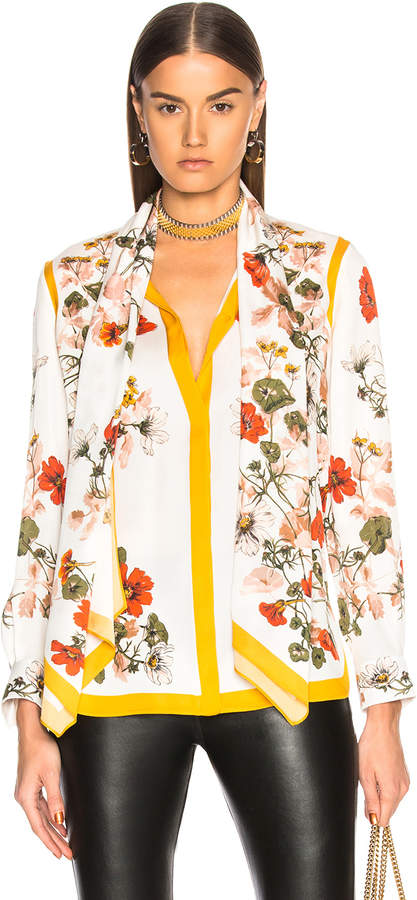 Alexander McQueen Scarf Print Shirt