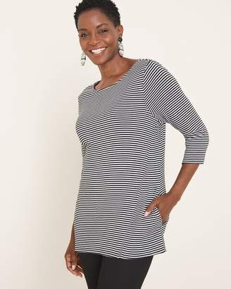 Chico's Chicos Striped Supima Cotton Tunic