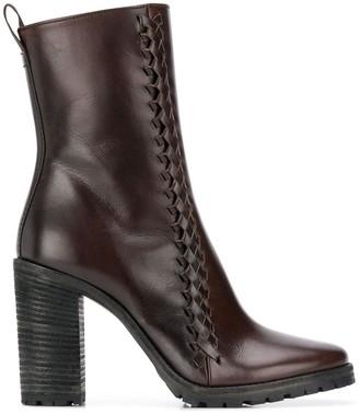 Haider Ackermann Woven Ankle Boots