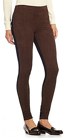 Polo Ralph Lauren Microsuede Front/Denim Back Leggings