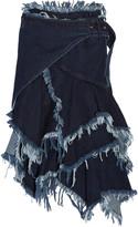 Marques Almeida Marques' Almeida Belted frayed denim wrap skirt