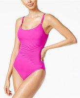 Calvin Klein Pintucked One-Piece Swimsuit