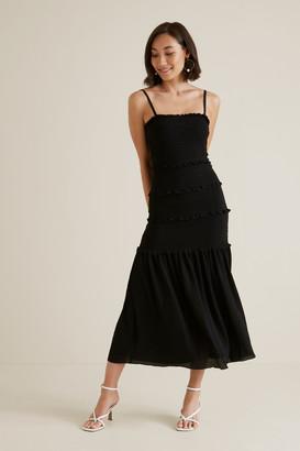 Seed Heritage Shirred Maxi Dress