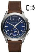 AX Armani Exchange Connected Hybrid Leather Strap Smartwatch, 44mm