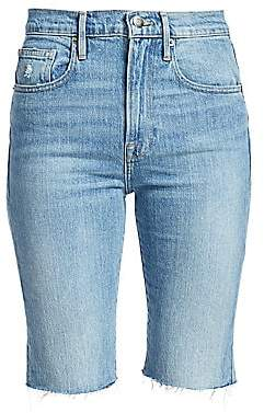 Frame Women's Le Vintage Raw Edge Bermuda Shorts