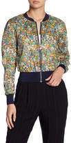Cacharel Floral Print Lightweight Bomber Jacket