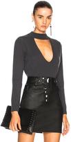 Michelle Mason for FWRD Choker Sweater in Gray.