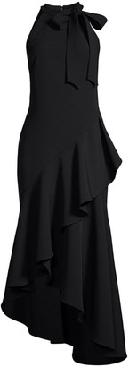 Shoshanna Relia Asymmetric Ruffle Dress