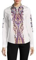 Etro Paisley Cotton Poplin Shirt