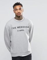 Diesel S-Pond-GR Oversized Sweatshirt Message Print