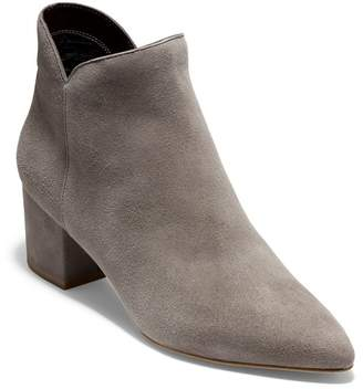 Cole Haan Elyse Suede Pointed Toe Ankle Boot - Wide Wdith Available