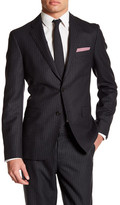 Brooks Brothers Notch Lapel Two Button Charcoal Pinstripe Jacket