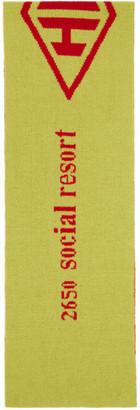 Han Kjobenhavn Green Wool Logo Scarf