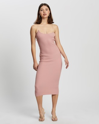 Missguided Women's Pink Midi Dresses - Perspex Midaxi Dress - Size 6/8 at The Iconic