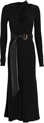 Nanushka Clement Belted Midi Sweater Dress