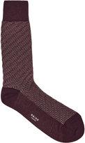 Reiss Reiss Schranger - Textured Herringbone Socks In Red