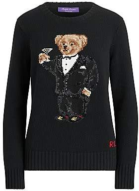 Ralph Lauren Women's Martini Bear Cashmere Crewneck Sweater