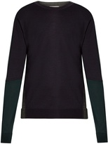 Wooyoungmi Tri-colour wool sweater