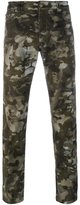 Versus camouflage lion print trousers