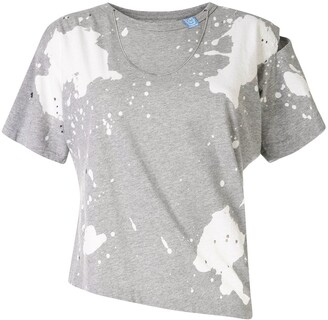 Maison Mihara Yasuhiro asymmetric tie-dye T-shirt