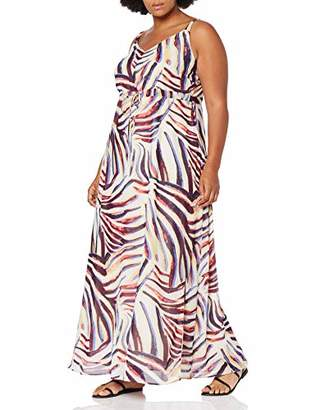 Junarose Women's Jrzana Sl Maxi Dress - K Multicolour (Sand Dollar AOP), (Size: 46)