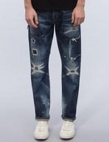 Denim by Vanquish & Fragment Five Years Wash Wide Straight Denim Jeans