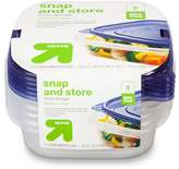 up & up Snap and Store Food Storage Containers - 5ct (25 Fl Oz each)