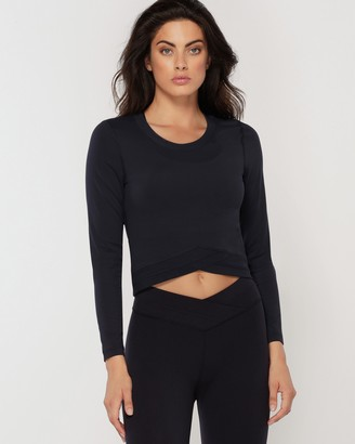Lorna Jane Wrap Active Long Sleeve Top
