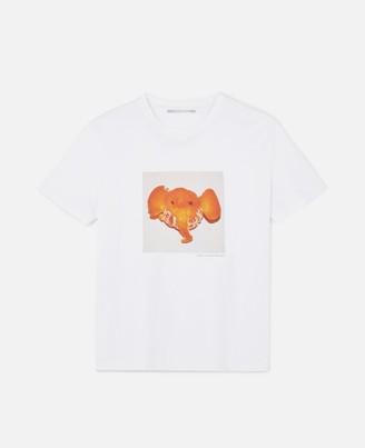 Stella McCartney Elephant Tangerine T-Shirt, Women's