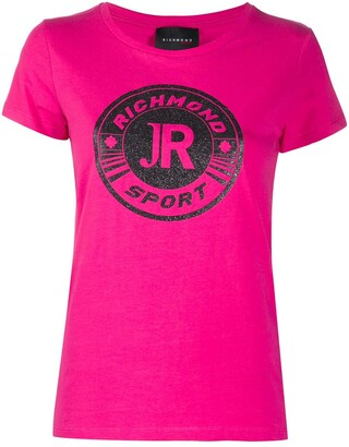 John Richmond glitter logo print T-shirt