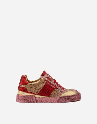 Dolce & Gabbana Portofino Light Sneakers With Multicolored Glitter